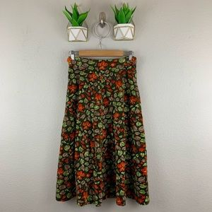 Vintage Boutique El Ingles Skirt Floral A Line